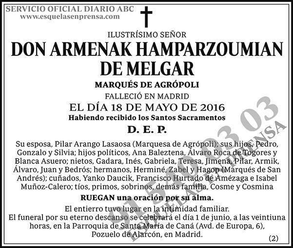 Armenak Hamparzoumian de Melgar